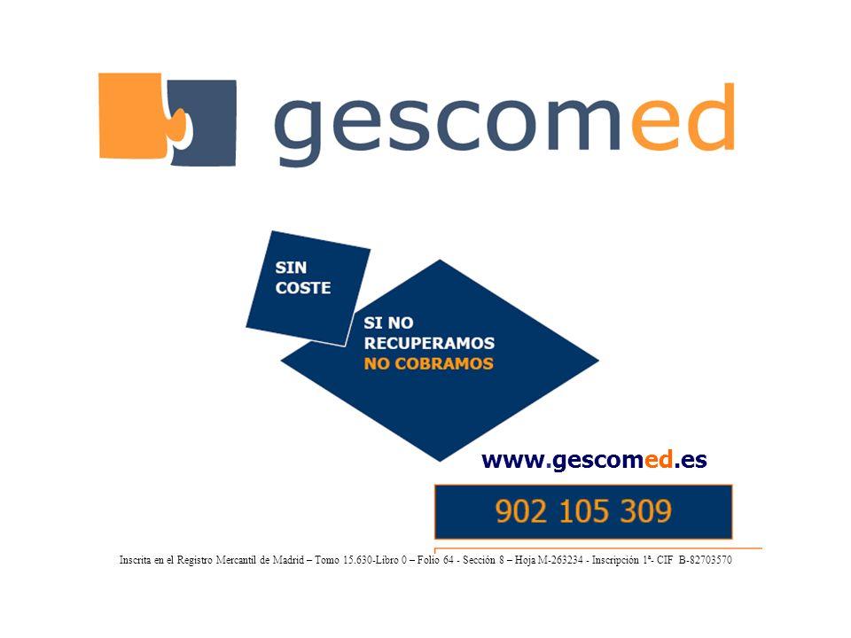 Gestión de Cobros y Mediación (gescomed) es una empresa especializada en la gestión recuperatoria de deudas impagadas.