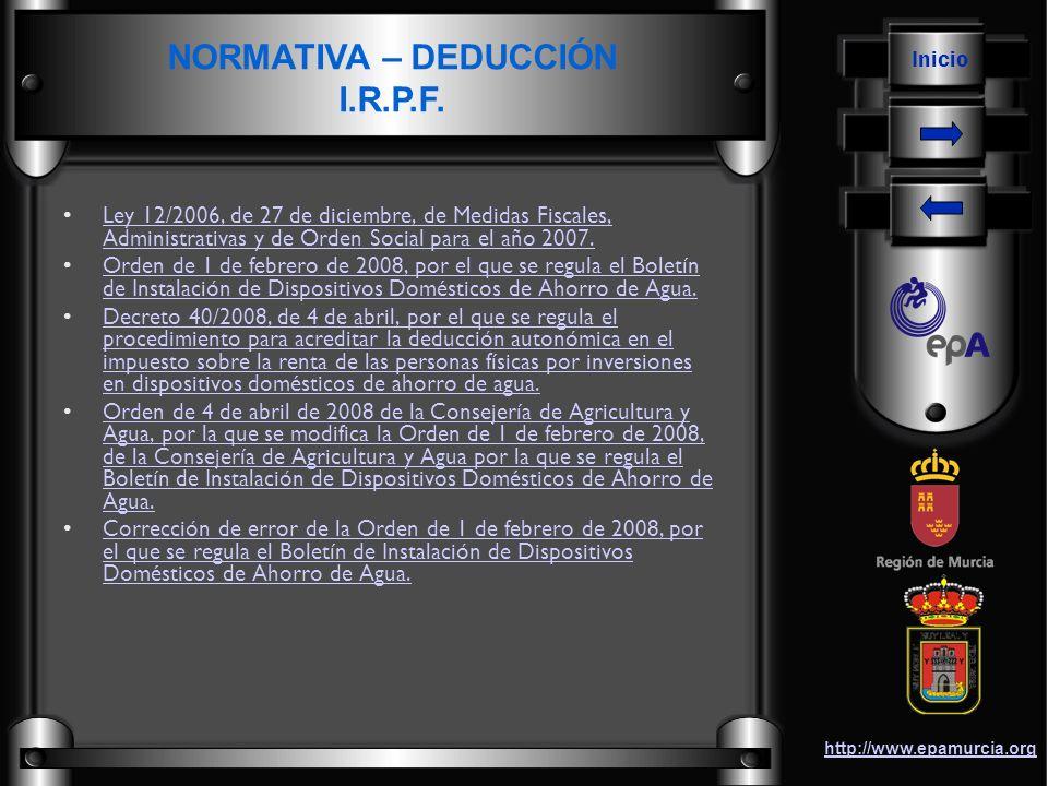 Inicio http://www.epamurcia.org Ley 12/2006, de 27 de diciembre, de Medidas Fiscales, Administrativas y de Orden Social para el año 2007.Ley 12/2006,