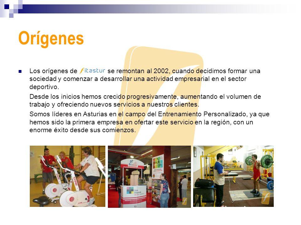 Orígenes Los orígenes de se remontan al 2002, cuando decidimos formar una sociedad y comenzar a desarrollar una actividad empresarial en el sector dep