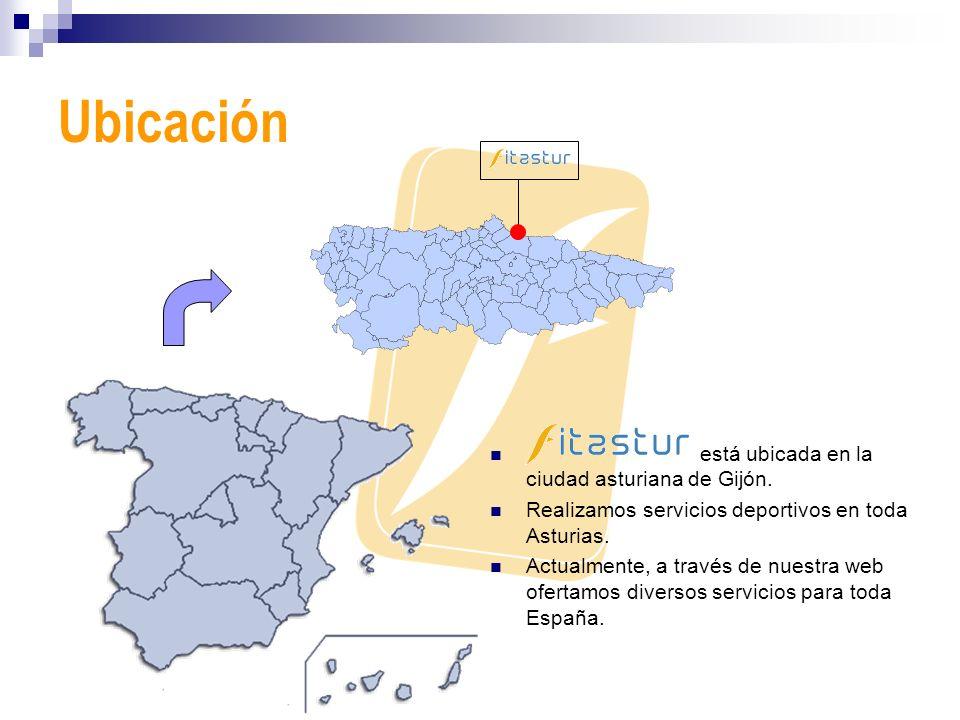 Ubicación está ubicada en la ciudad asturiana de Gijón. Realizamos servicios deportivos en toda Asturias. Actualmente, a través de nuestra web ofertam