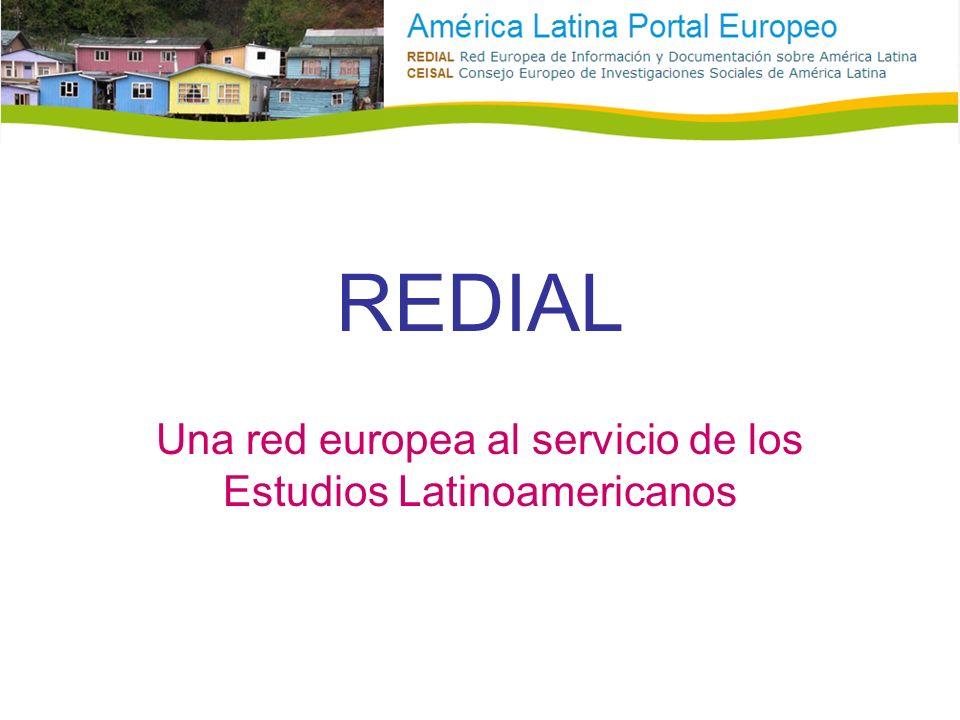 REDIAL Una red europea al servicio de los Estudios Latinoamericanos
