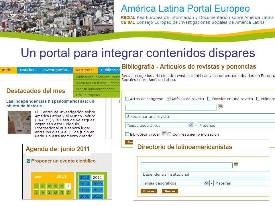 Un portal para integrar contenidos dispares