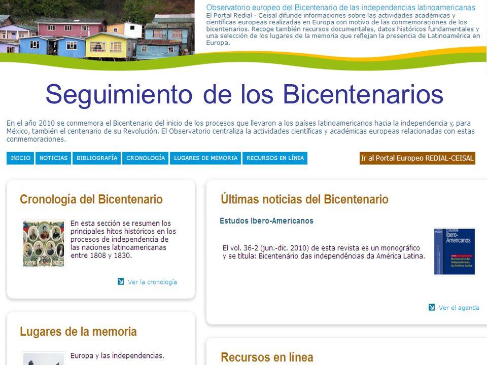 Seguimiento de los Bicentenarios