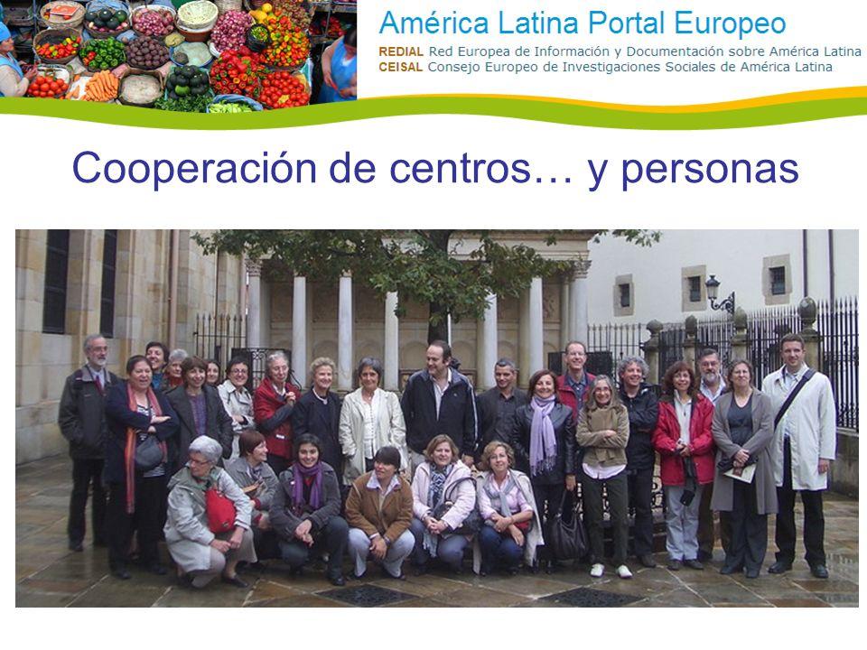 Cooperación de centros… y personas