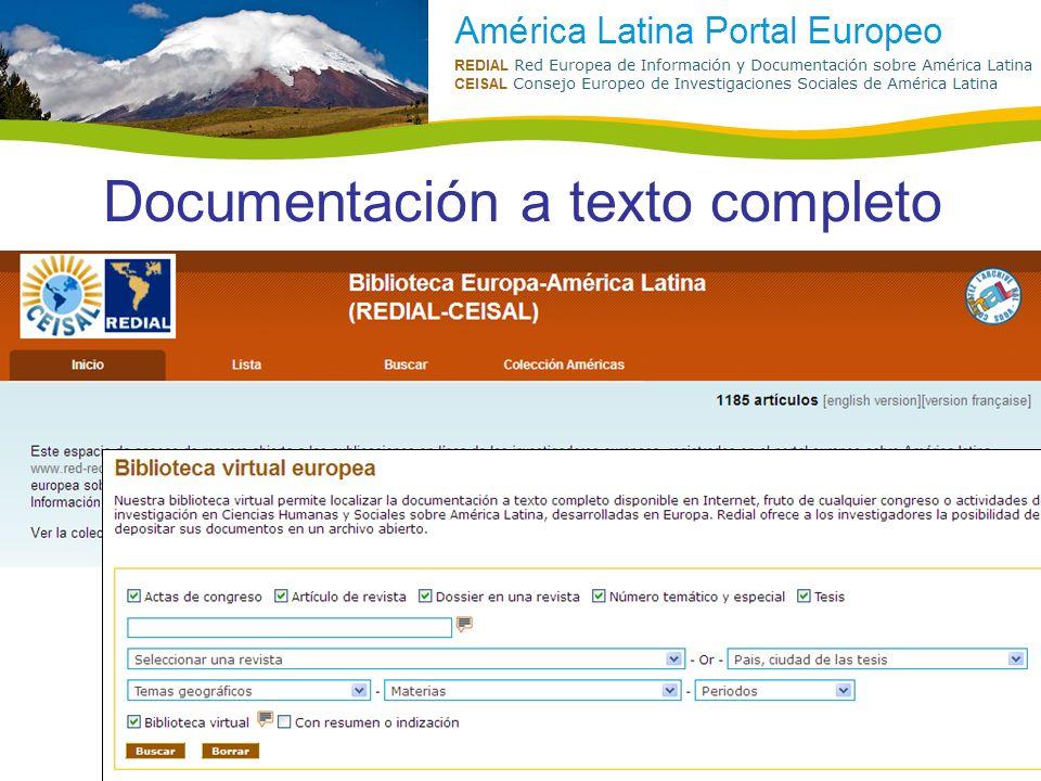 Documentación a texto completo