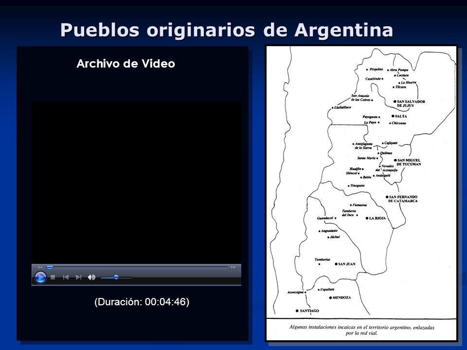 Pueblos originarios de Argentina (Duración: 00:04:46) Archivo de Video
