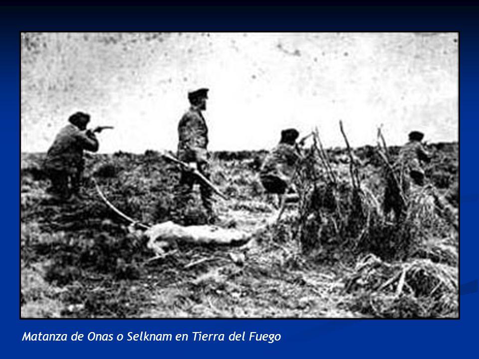 Matanza de Onas o Selknam en Tierra del Fuego