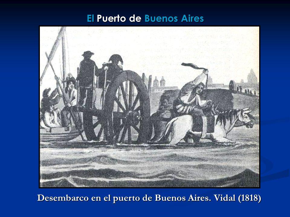 El Puerto de Buenos Aires Desembarco en el puerto de Buenos Aires. Vidal (1818)