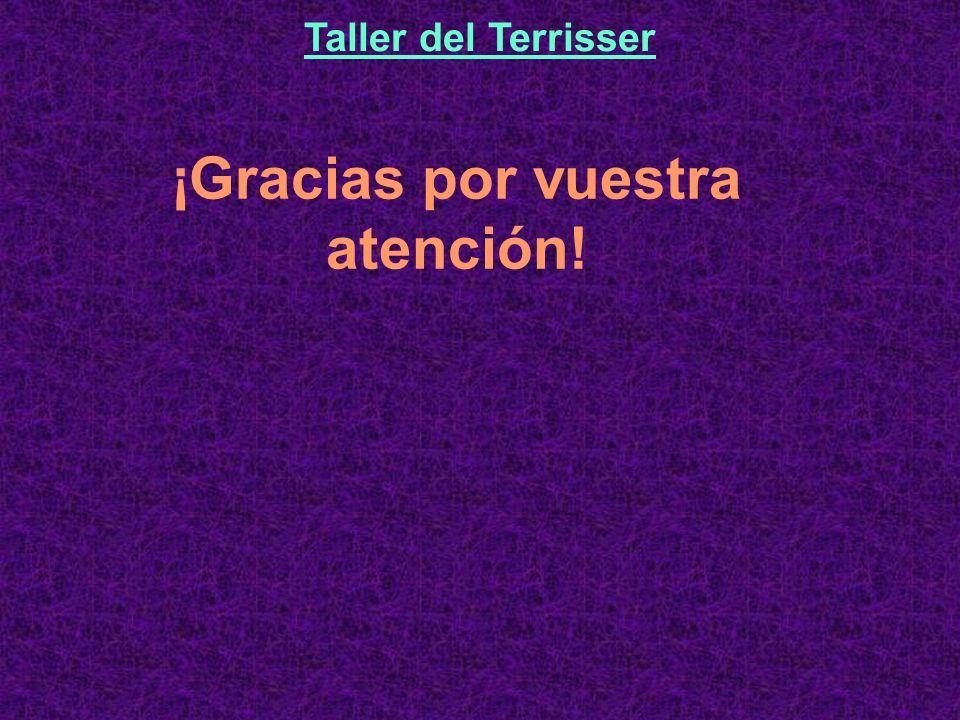 ¡Gracias por vuestra atención! Taller del Terrisser