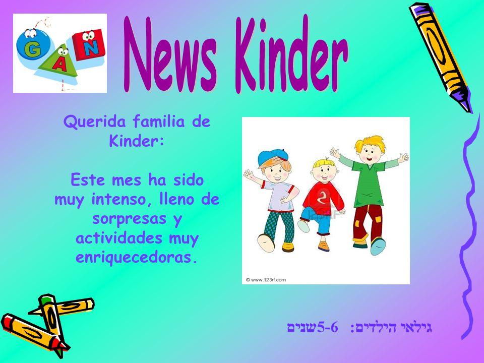 Querida familia de Kinder: Este mes ha sido muy intenso, lleno de sorpresas y actividades muy enriquecedoras.