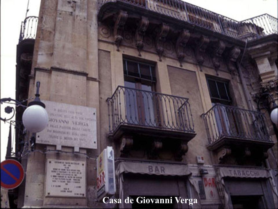 Giovanni Verga (Novelista,Vizzini, 1840 - Catania, 1922) Es la mayor figura del verismo, sus obras fueron muy leídas y obtuvo del reconocimiento de los críticos.