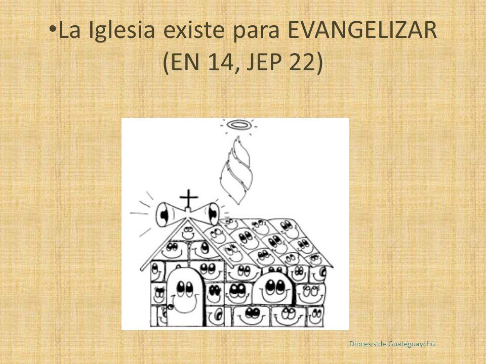 La Iglesia existe para EVANGELIZAR (EN 14, JEP 22) Diócesis de Gualeguaychú