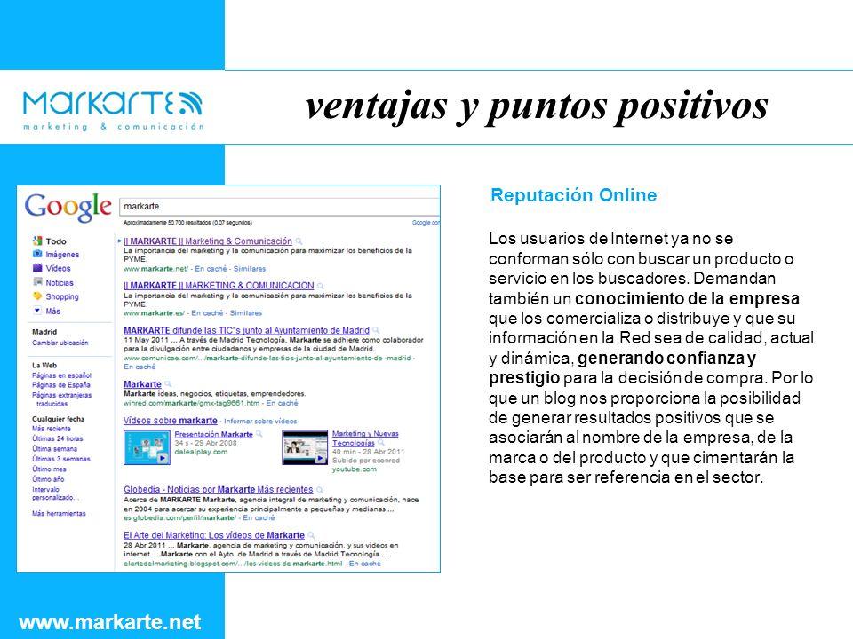 ventajas y puntos positivos www.markarte.net Redes Sociales Parece ser que el origen de la destrucción del uso del blog venga de la mano de Facebook y Twitter.