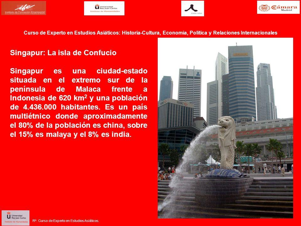 R 3. Curso de Experto en Estudios Asiáticos. Singapur: La isla de Confucio Singapur es una ciudad-estado situada en el extremo sur de la península de