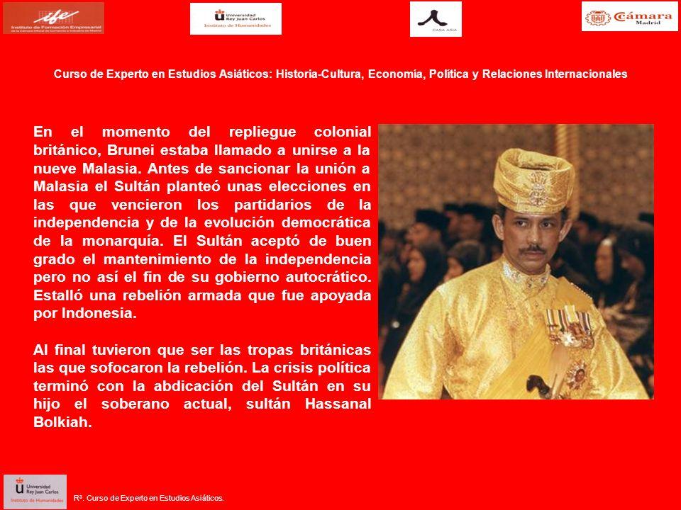 En el momento del repliegue colonial británico, Brunei estaba llamado a unirse a la nueve Malasia. Antes de sancionar la unión a Malasia el Sultán pla