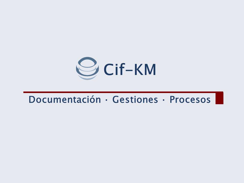 Documentación · Gestiones · Procesos Cif-KM