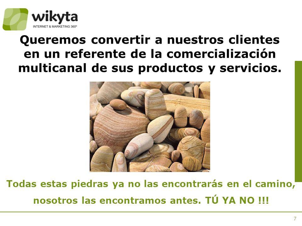 Queremos convertir a nuestros clientes en un referente de la comercialización multicanal de sus productos y servicios.
