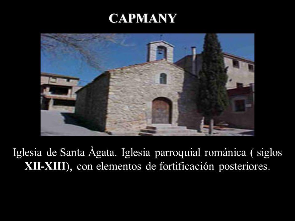 Iglesia de Santa Coloma. Situada en Cabanelles es románica (siglos XII-XIII). CABANELLES