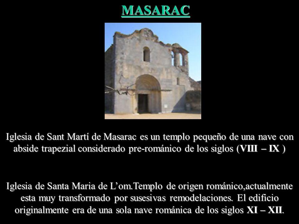 Iglesia preromànica del siglo IX, actualmente restaurada. Iglesia de Sant Quirze d'Olmells LLERS