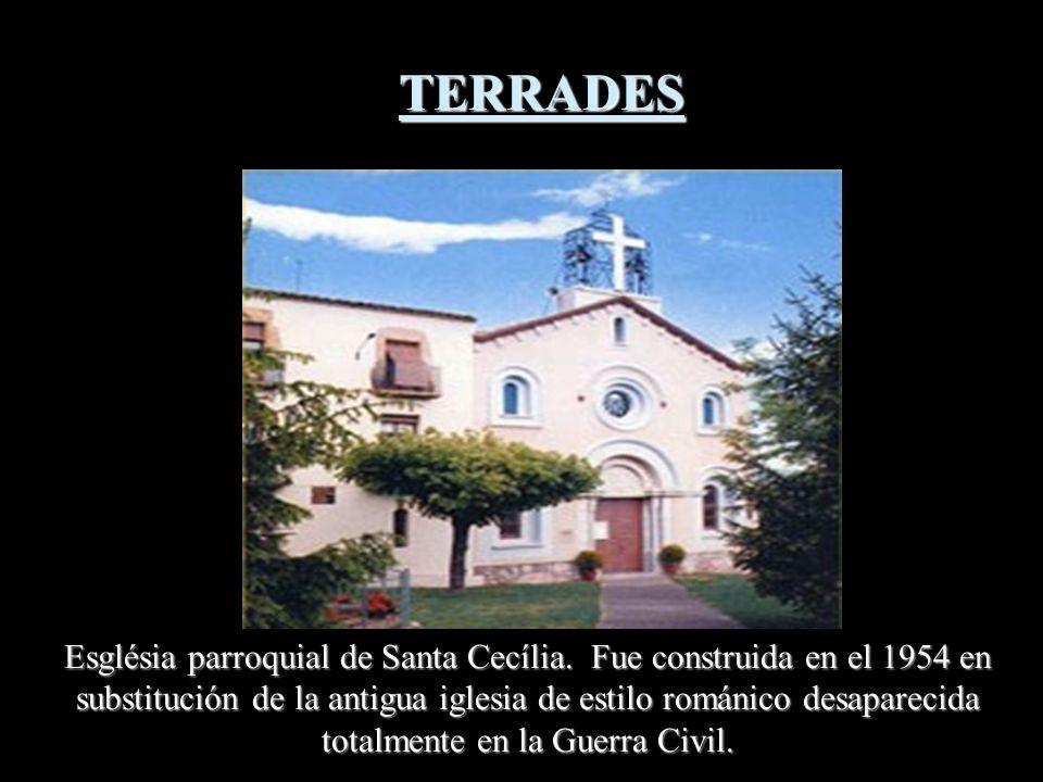 Iglésia de Santa Coloma. Templo documentado del siglo XIII, aunque el edificio actual és del siglo XVIII, Reutilisando elementos de la anterior, román