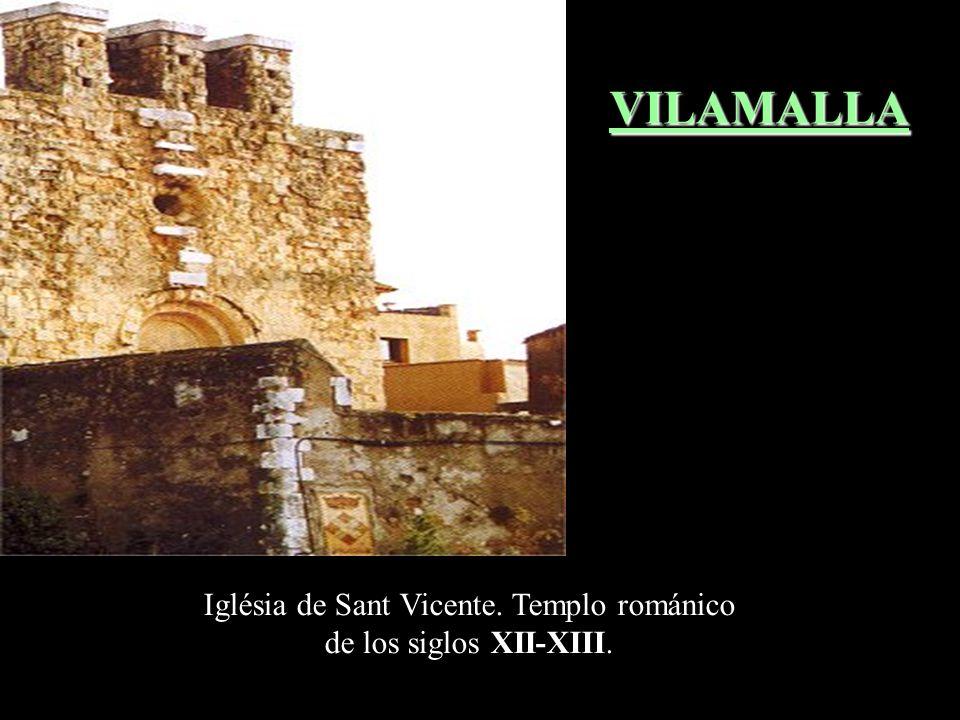La iglésia de Santa Maria de Vilamacolum és de una nave con ábside semicircular; presenta estructuras de época románica de los siglos XI al XIII y de
