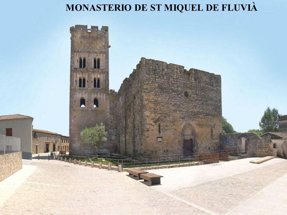Iglesia de Sant Meri y de Sant Celdoni.Templo románico del S.XII, reformada en el siglo XVIII, situada en el pueblo de Romanyá dèmporda.