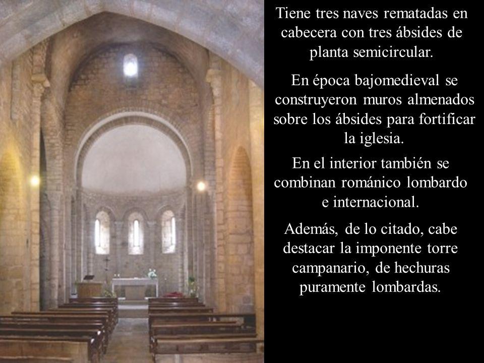 La iglesia de Santa Eugènia de Saus es de una nave con un ábside semicircular en su extremo de levante.