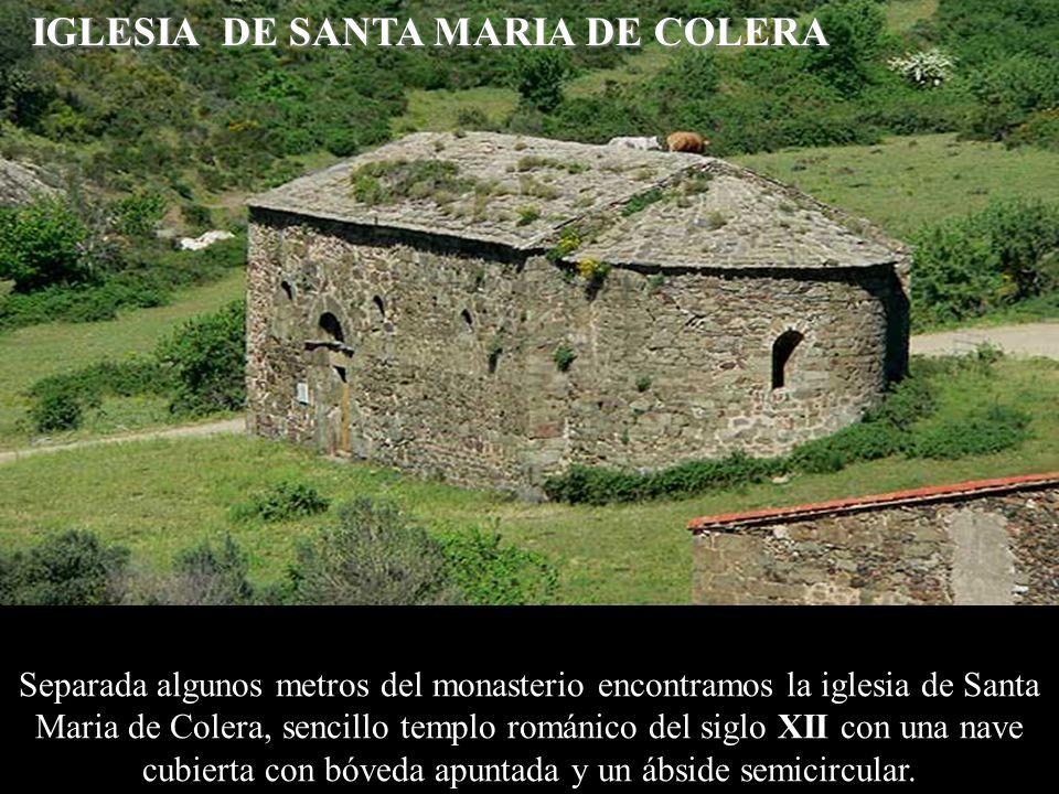 La iglésia de Santa Maria de Vilamacolum és de una nave con ábside semicircular; presenta estructuras de época románica de los siglos XI al XIII y de époques posteriors.