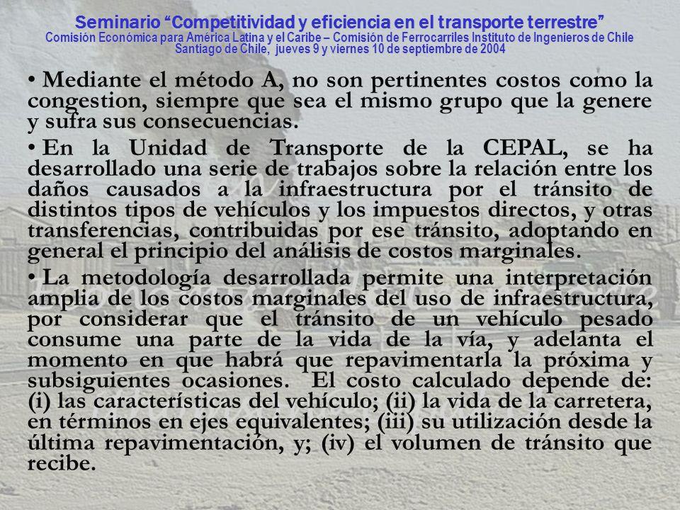 Seminario Competitividad y eficiencia en el transporte terrestre Comisión Económica para América Latina y el Caribe – Comisión de Ferrocarriles Instituto de Ingenieros de Chile Santiago de Chile, jueves 9 y viernes 10 de septiembre de 2004 Hay mucho más para contar pero no hay tiempo para contarlo.