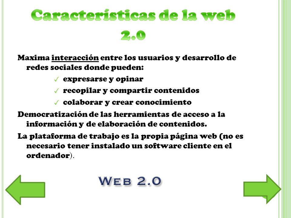 Para expresarse/crear y publicar: blogs, wikis...
