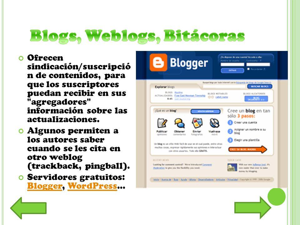 Espacio web con una estructura hipertextual de páginas referenciadas en un menú lateral, donde varias personas /autoras elaboran contenidos de manera asíncrona.