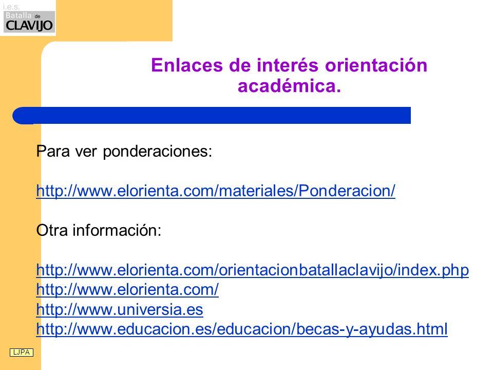 Enlaces de interés orientación académica.