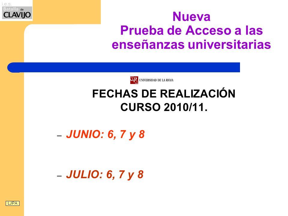 LA PAU A PARTIR DE 2010 Esto ha supuesto cambios en: Se da un ajuste al desarrollo curricular del Bachillerato-LOE Se persigue una adecuación con los títulos de Grado.