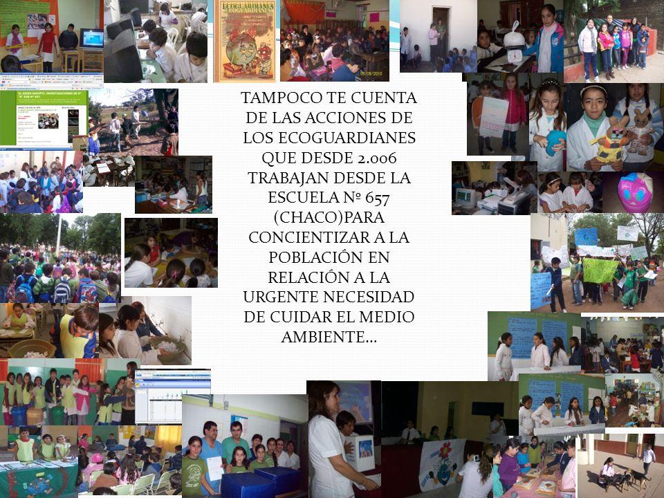 NO TE CUENTA LAS PEQUEÑAS ACCIONES PARA GRANDES OBRAS QUE REALIZAN LOS CHICOS DE LA ESCUELA 1.029…