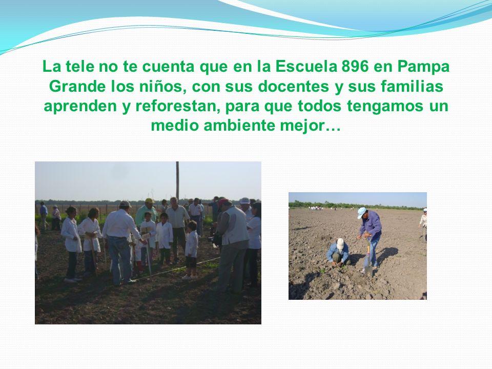 La tele no te cuenta que en la Escuela 896 en Pampa Grande los niños, con sus docentes y sus familias aprenden y reforestan, para que todos tengamos un medio ambiente mejor…