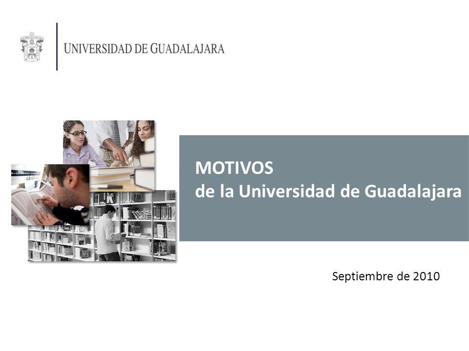 MOTIVOS de la Universidad de Guadalajara Septiembre de 2010