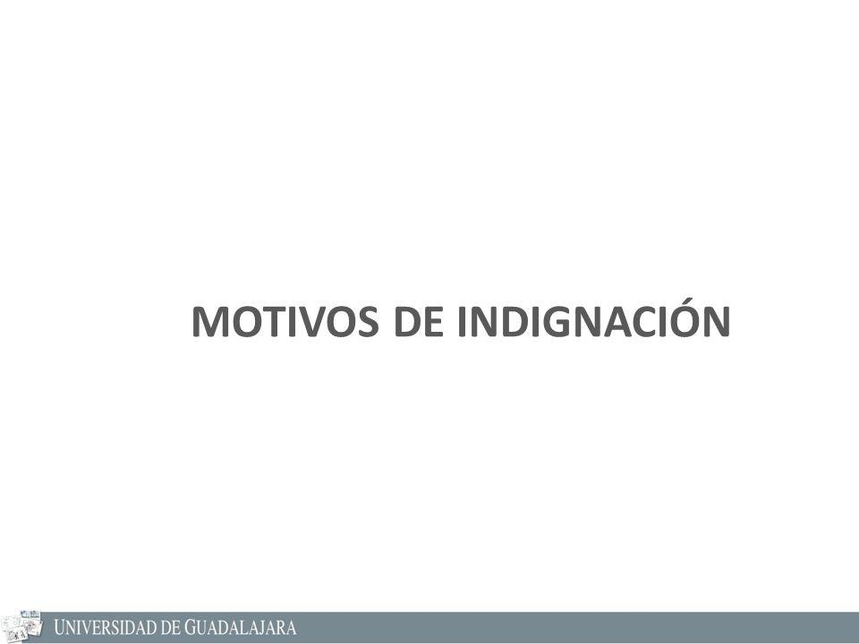 MOTIVOS DE INDIGNACIÓN