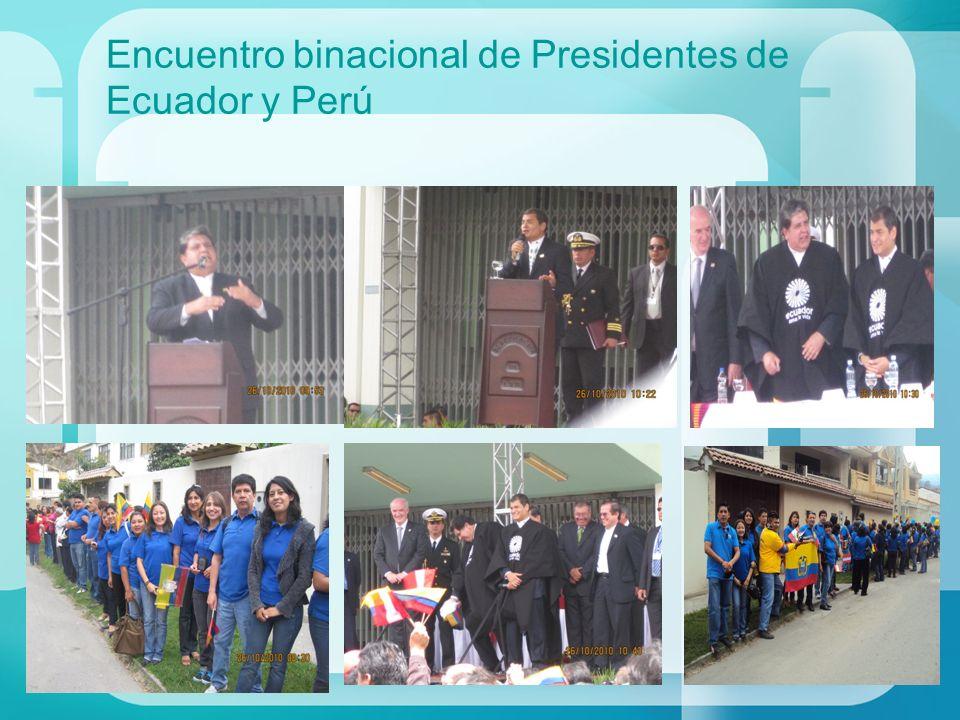 Encuentro binacional de Presidentes de Ecuador y Perú