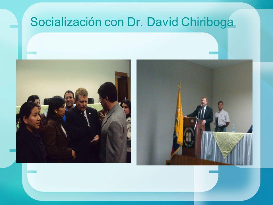 Socialización con Dr. David Chiriboga