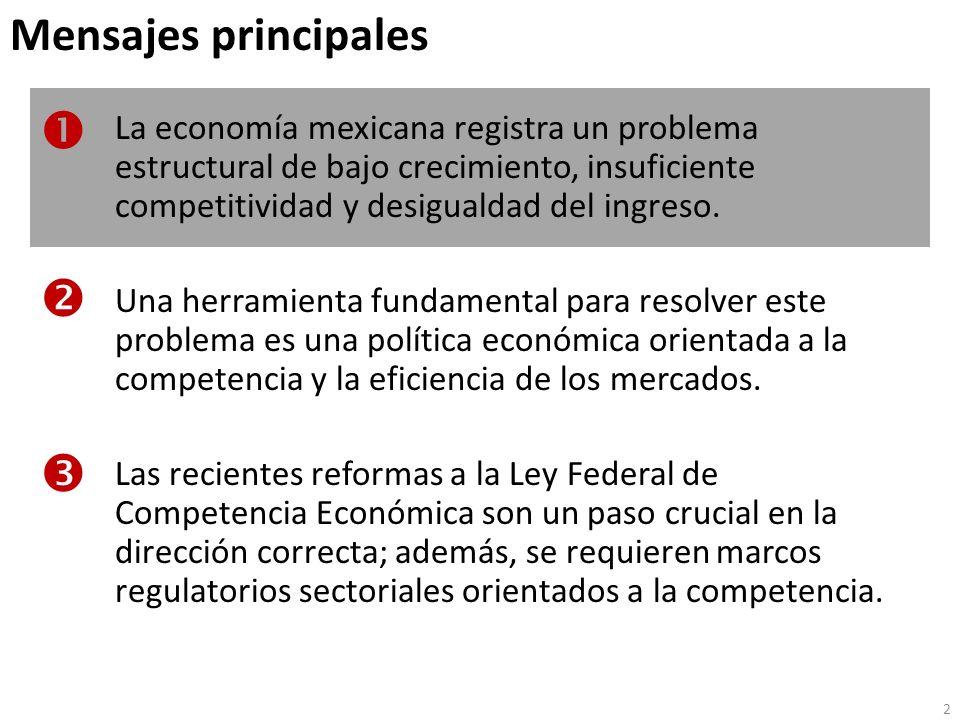 La economía mexicana registra un problema estructural de bajo crecimiento … Notas: Valores estimados para 2009.