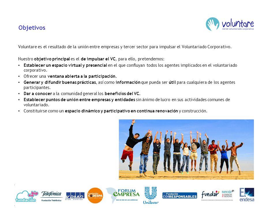 Objetivos Voluntare es el resultado de la unión entre empresas y tercer sector para impulsar el Voluntariado Corporativo. Nuestro objetivo principal e