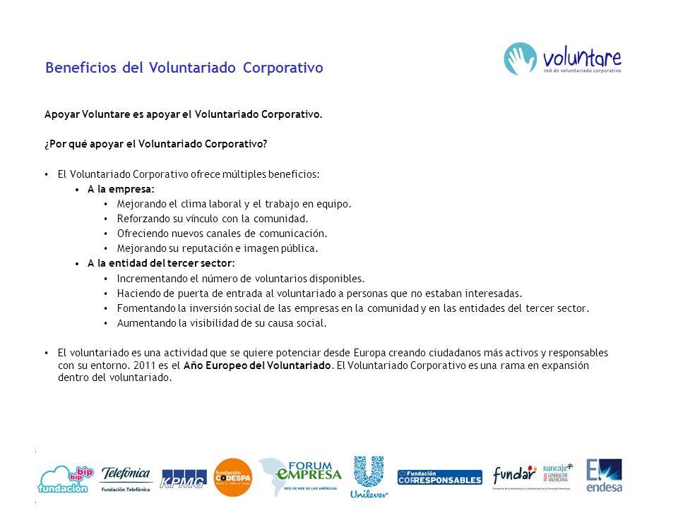 Beneficios de Voluntare ¿Por qué apoyar Voluntare.