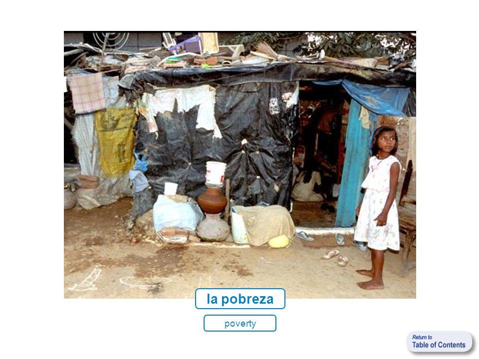la pobreza poverty
