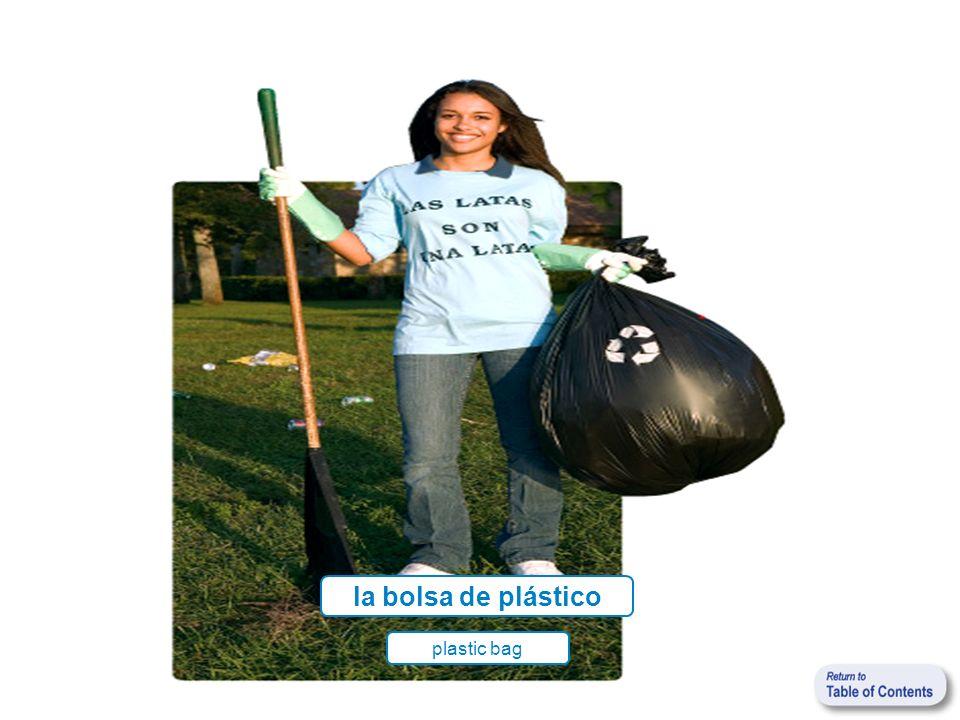 la bolsa de plástico plastic bag