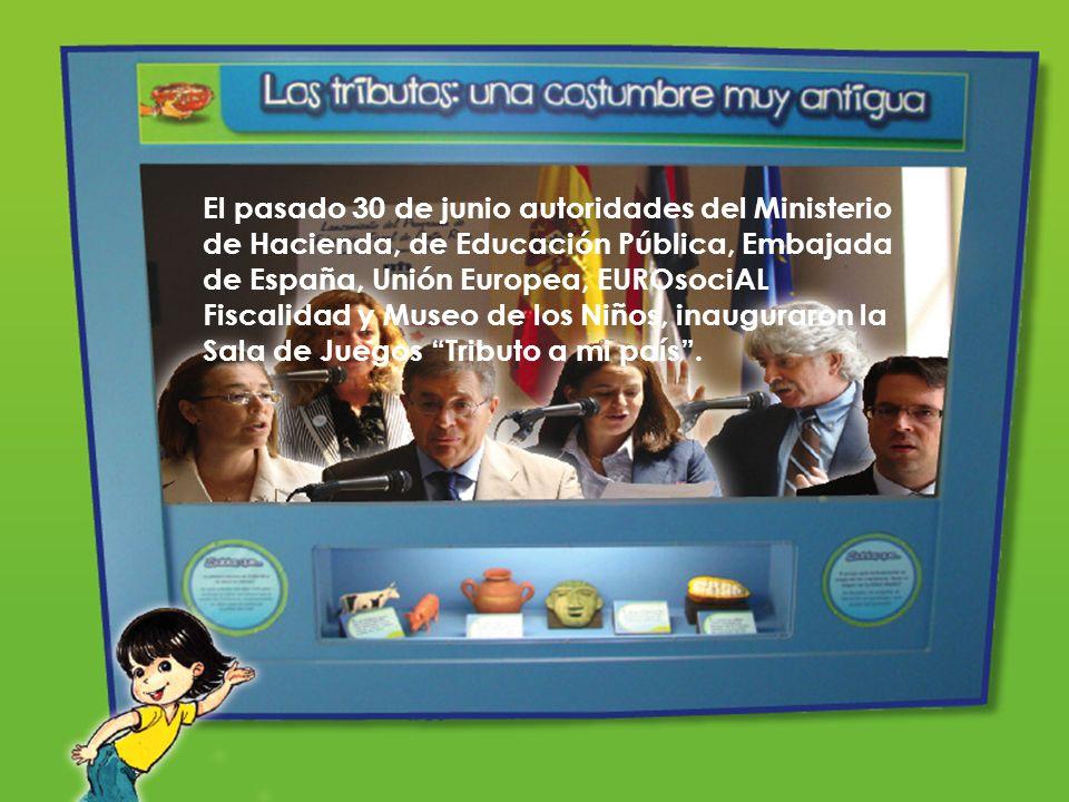 El pasado 30 de junio autoridades del Ministerio de Hacienda, de Educación Pública, Embajada de España, Unión Europea, EUROsociAL Fiscalidad y Museo d