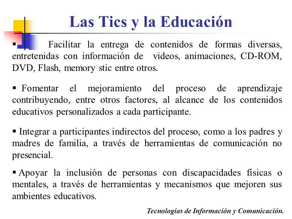 Tecnologías de Información y Comunicación.