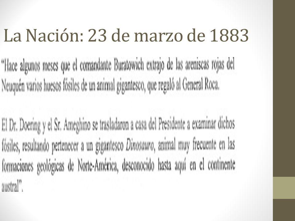 La Nación: 23 de marzo de 1883