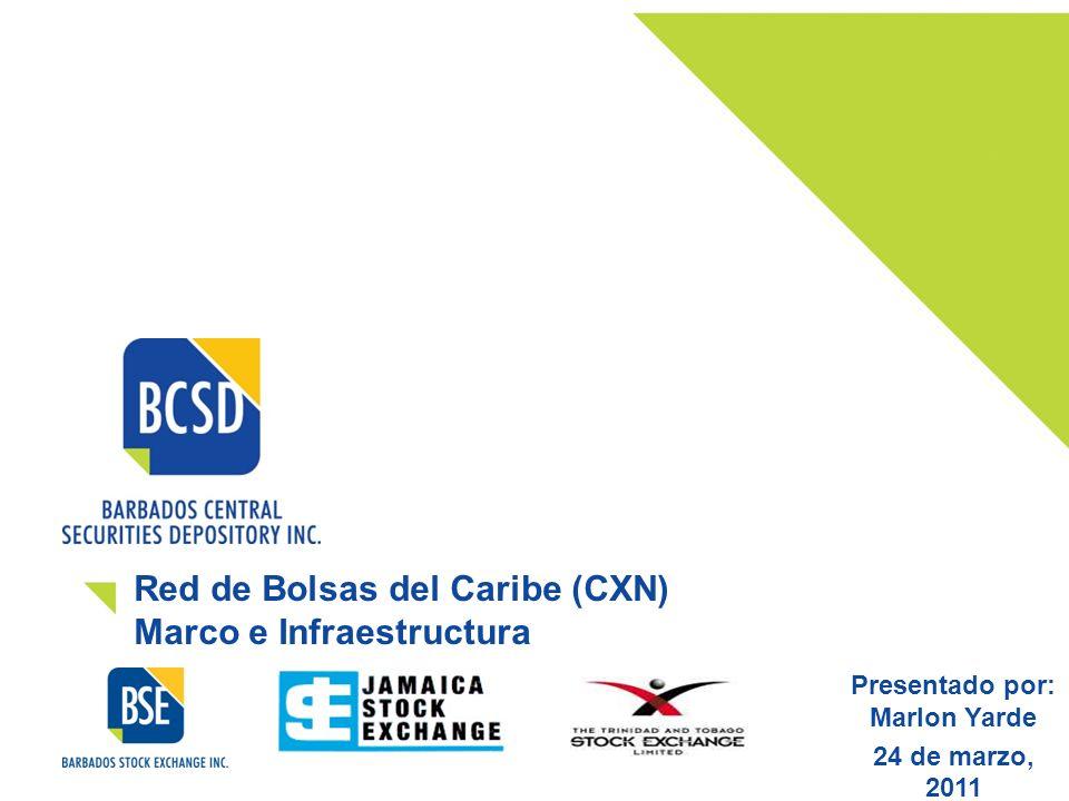 Red de Bolsas del Caribe (CXN) Marco e Infraestructura Presentado por: Marlon Yarde 24 de marzo, 2011