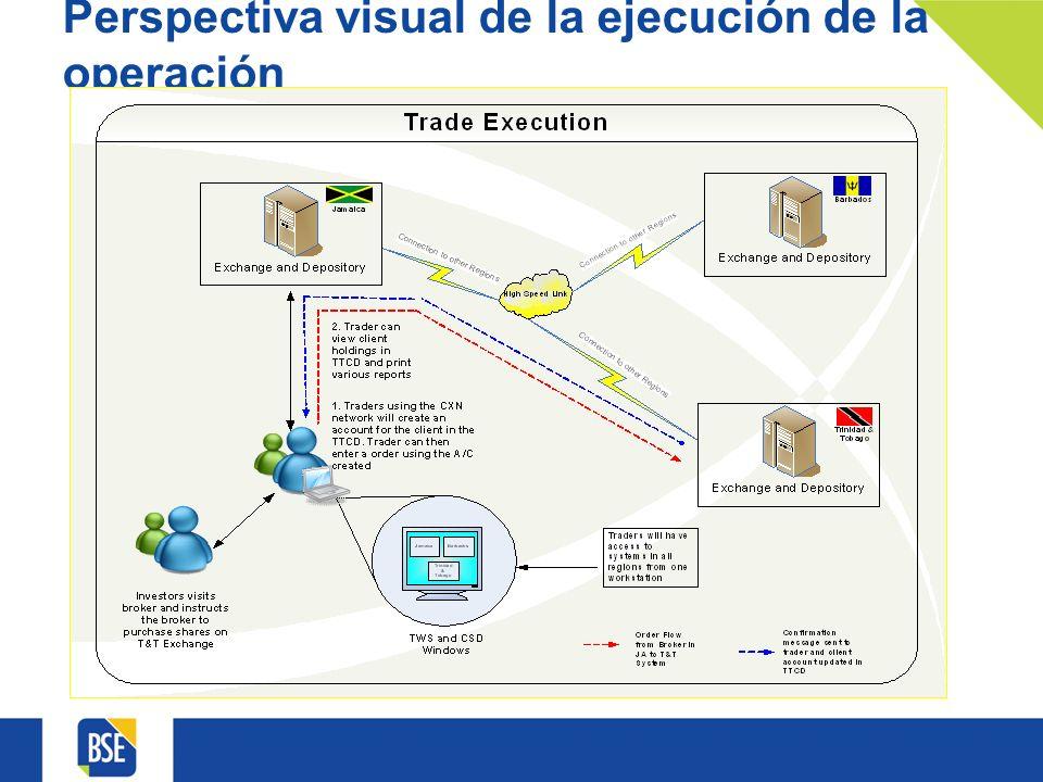 Perspectiva visual de la ejecución de la operación