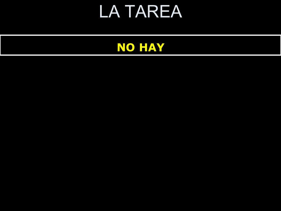 LA TAREA NO HAY